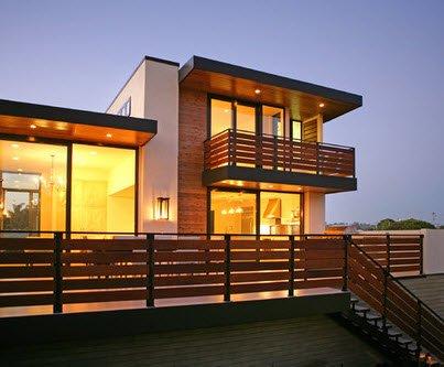 Fachadas de madera de casas modernas for Casas de madera modernas