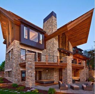 Fachadas de casas de lujo dise o y estilo - Casas rusticas de lujo ...