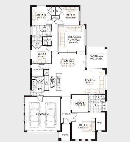 Planos de casas de 1 piso modernas viviendas for Plano casa un piso
