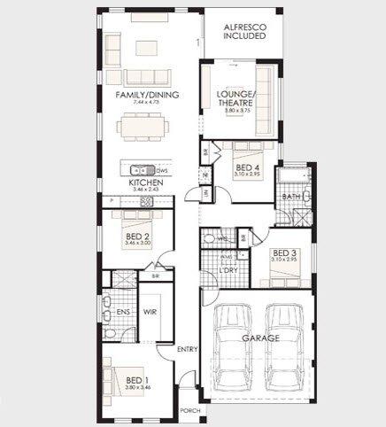 Planos de casas de 1 piso modernas viviendas - Planos de casas de una planta 4 dormitorios ...