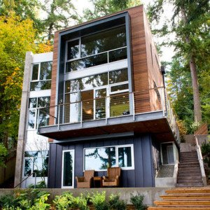 Fachada de madera de Coates Design Architects Seattle