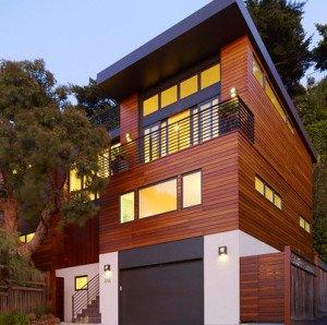 Fachada de madera de John Maniscalco Architecture
