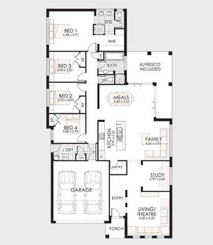 Plano de casa de un piso 3 living magazine for Ver planos de casas de un piso