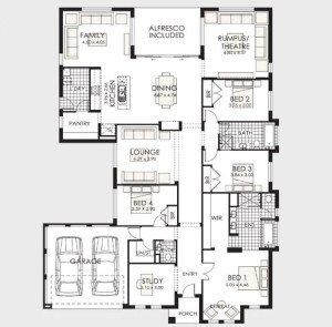 Planos de casas de 1 piso modernas viviendas for Planos de apartamentos modernos