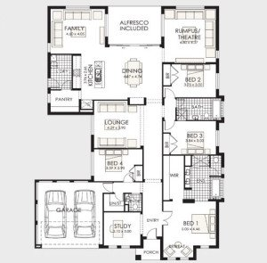 Planos de casas de 1 piso modernas viviendas for Planos de casas campestres de dos plantas