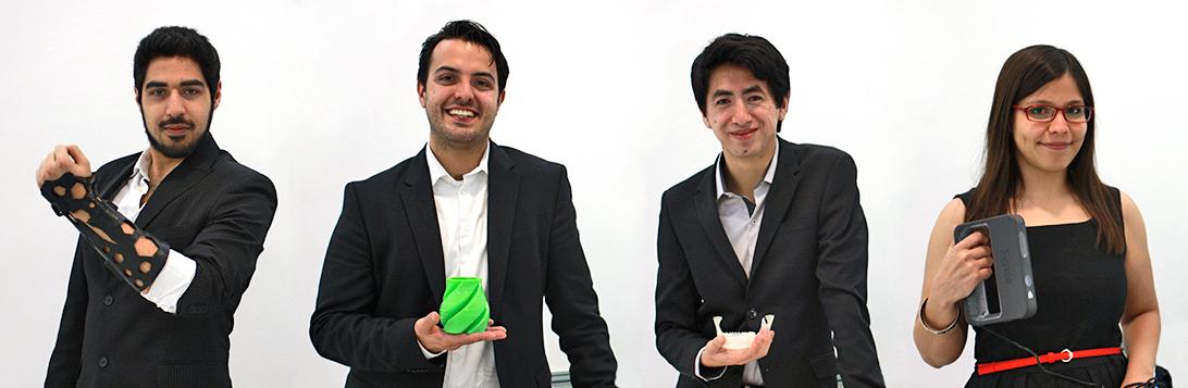 Mexicanos cambian yeso por ferulas impresas en 3D