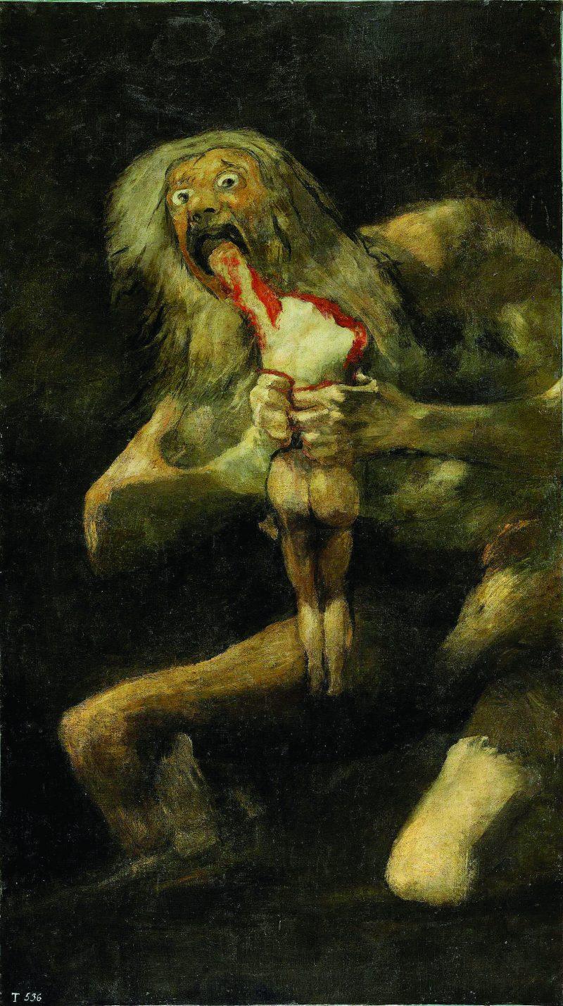 Pintura, Saturno comiéndose a su hijo - Francisco Goya